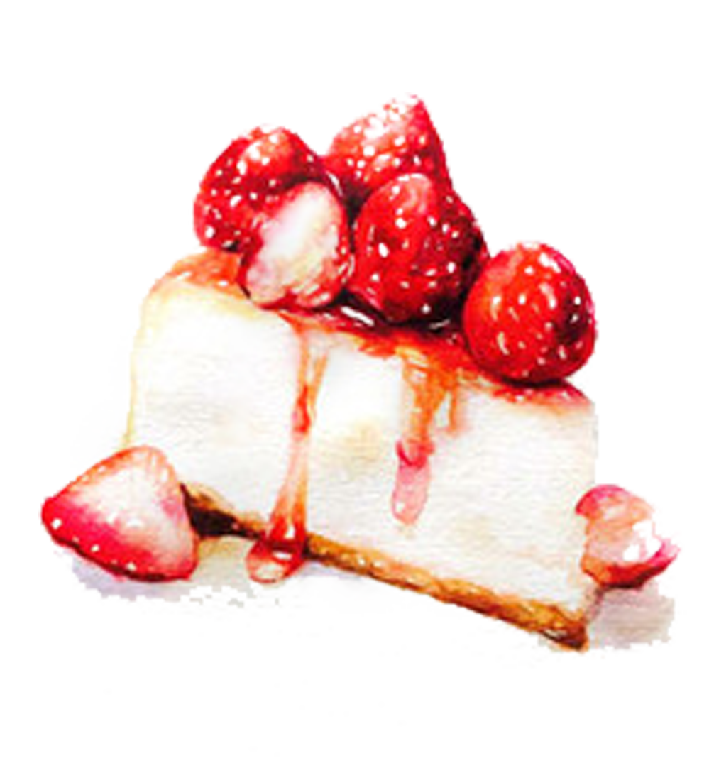 Cheesecake transparent strawberry. Tiramisu bavarian cream panna