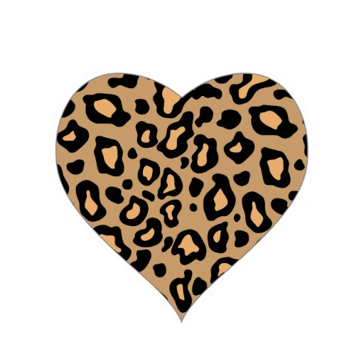Cheetah clipart heart. Free at getdrawings com