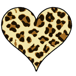 Cheetah clipart heart. Print at getdrawings com