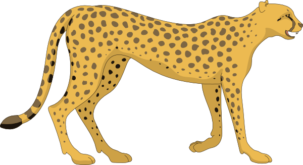 Cheetah clipart svg. Walking clip art at