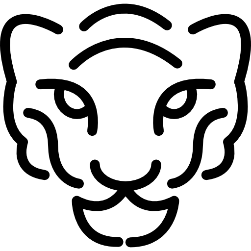 Cheetah head png. Animal outline animals svg