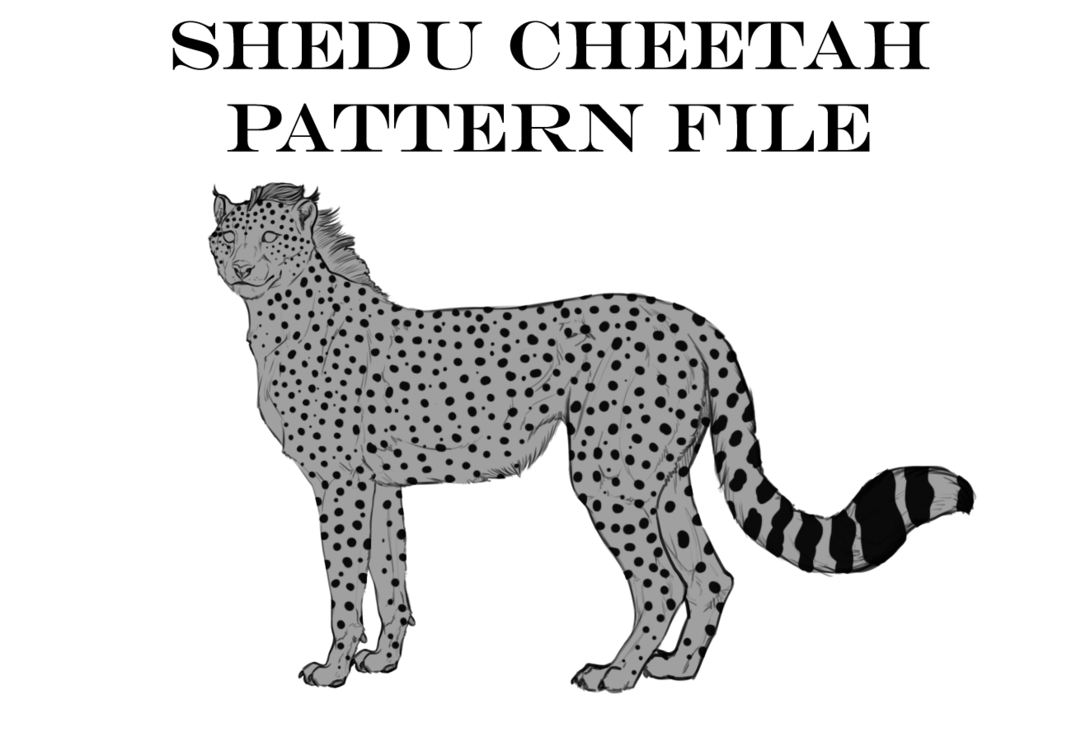 Cheetahs drawing body. Cheetah pattern layer file