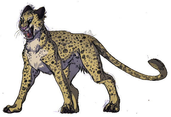 Drawing restrain cheetah. Angry by izapug on