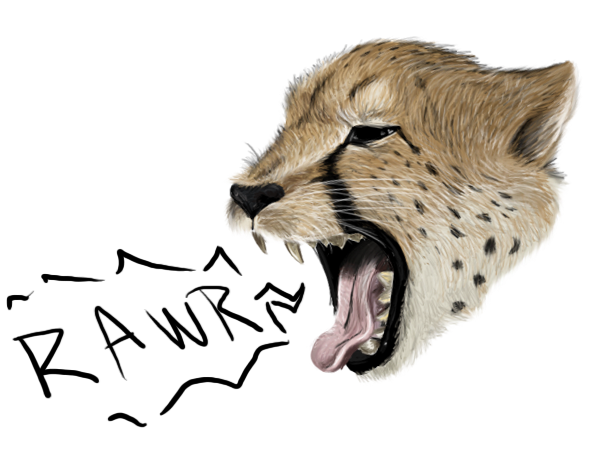 Cheetahs drawing roar. Cheetah painting rarrr by