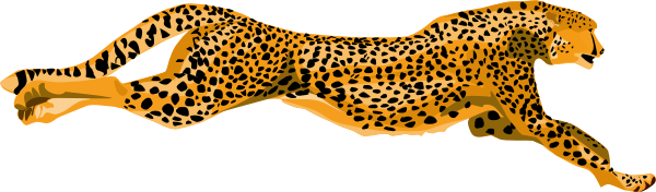 Cheetahs drawing side view. Cheetah clip art at
