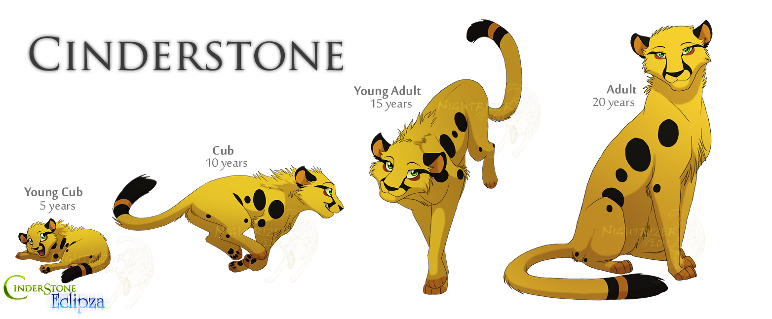 Cheetahs drawing chibi. Cinderstone age ref by