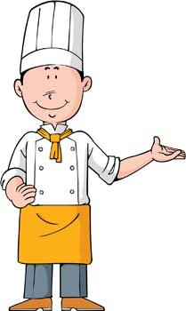 Free chef and vector. Cook clipart graphic black and white stock