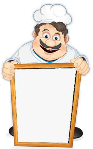 Chef clipart border. Creative cooking frame png