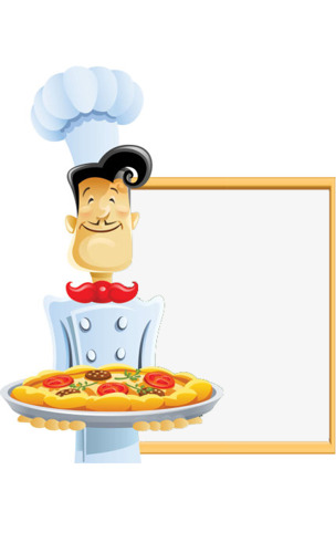Chef clipart border. Creative frame dining png