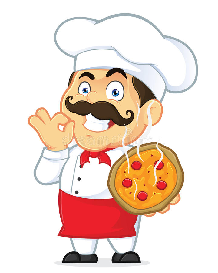 Pizza chef stock vector. Cook clipart clip art transparent library