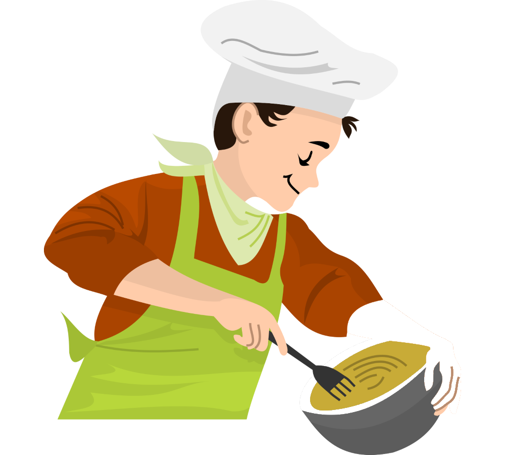 Chef cooking png. Food clip art oil