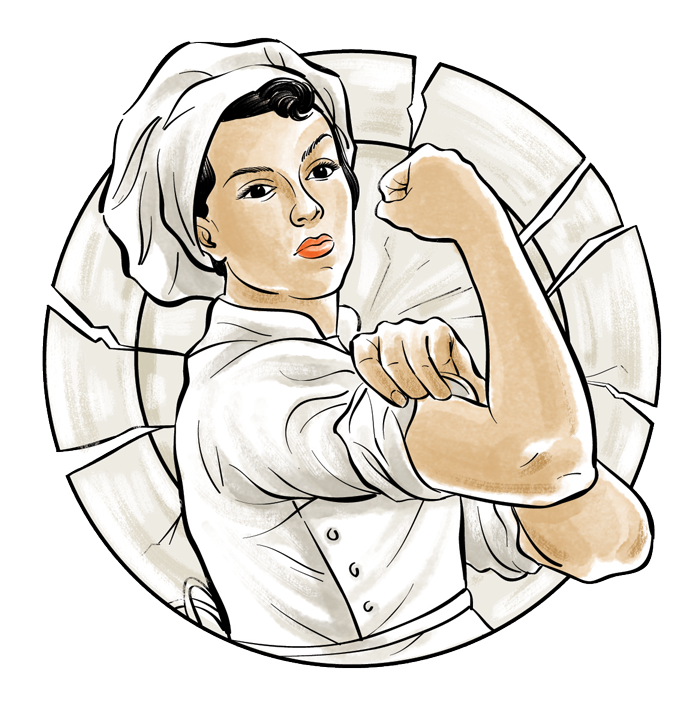 Baker drawing executive chef. Png female transparent images