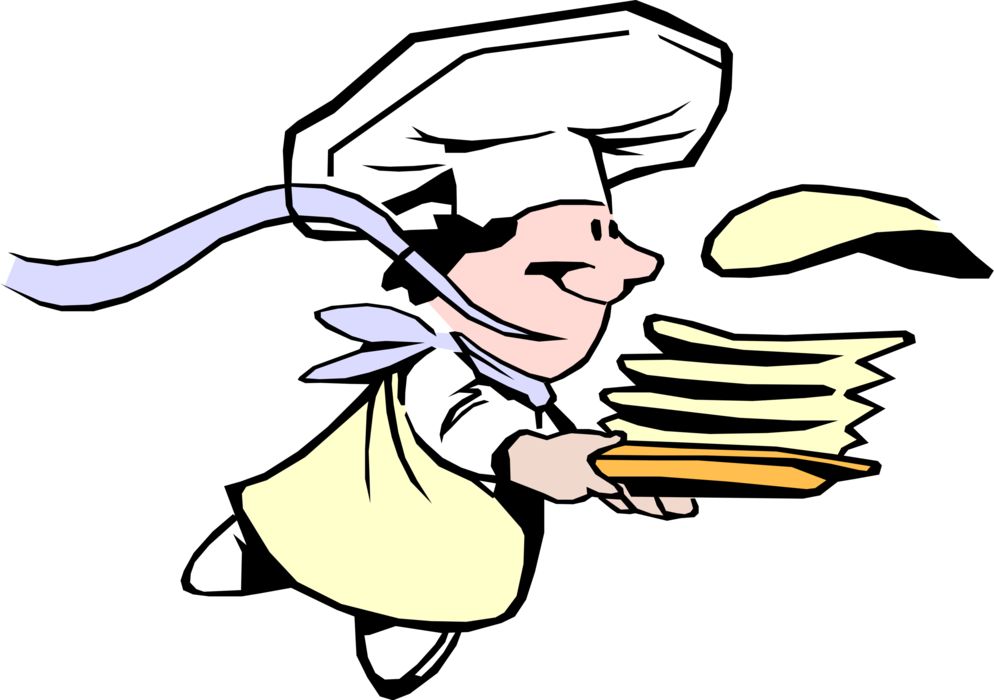 Pancakes clipart cook. Cr pes chef serves