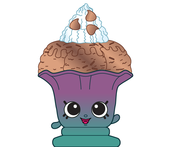 Chefs clipart ice cream. Choc kate sundae shopkins