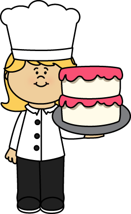 Chefs clipart ice cream. Chef holding a cake