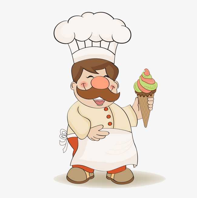 Chefs clipart ice cream. A chef with cook