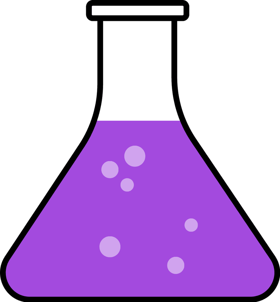 Chemicals clipart flask. Purple science biochemistry biology