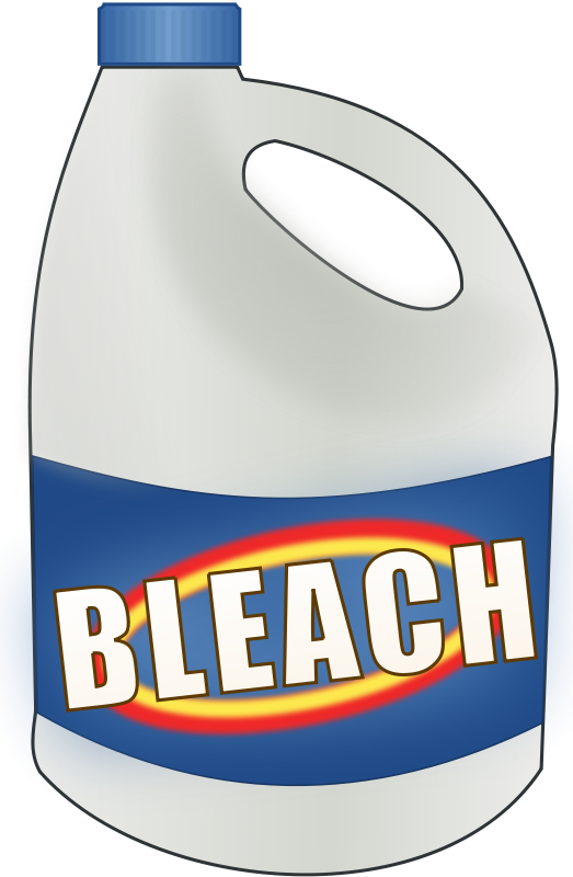Chemicals clipart household product. Bleach bottle scrapbook three