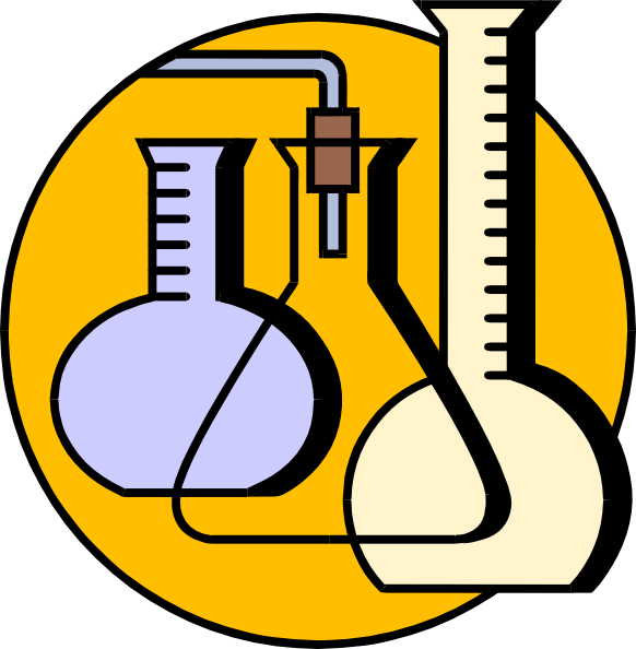 Chemistry clip. Lab equipment clipart