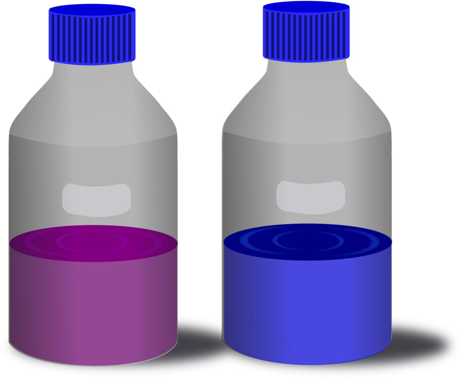 Chemistry clip bottle. Chemical substance reagent laboratory