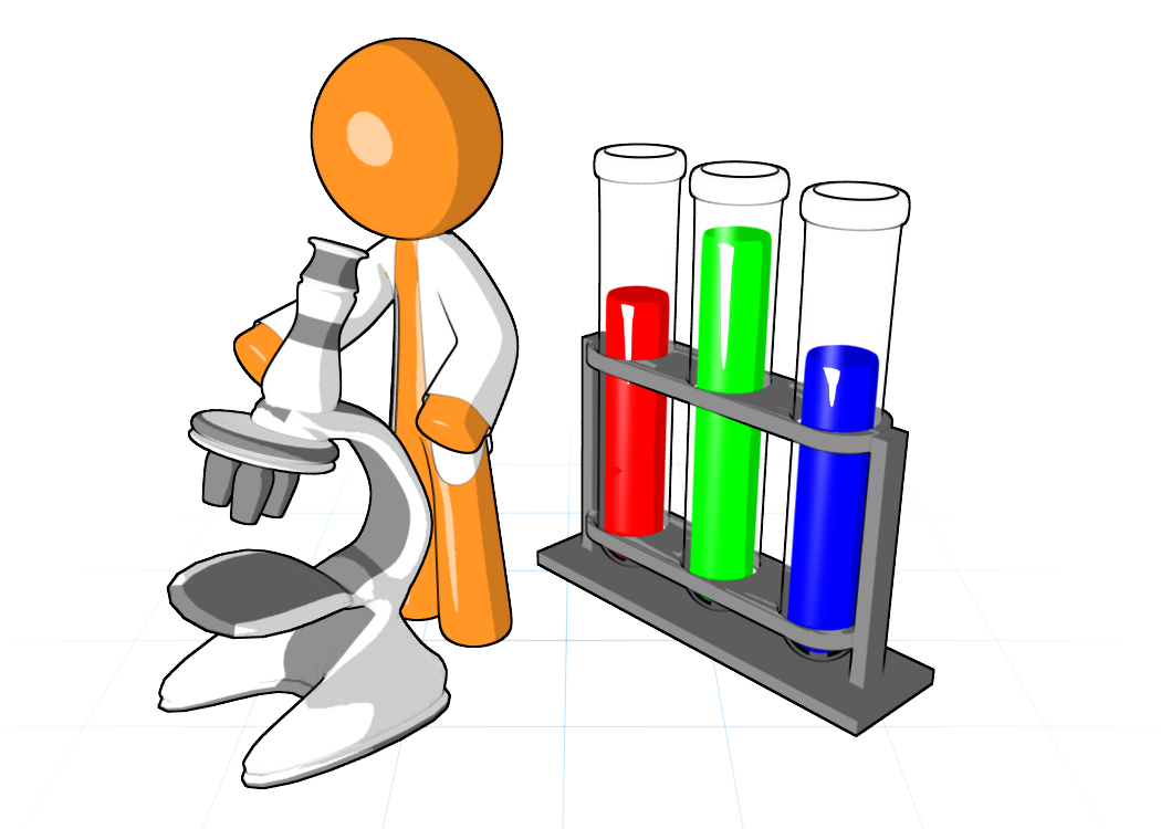 Vector laboratory science project. Collection of free apparatuses