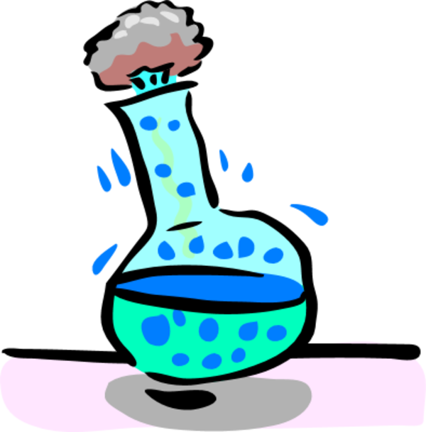 Chemistry clip experiment. Collection of clipart