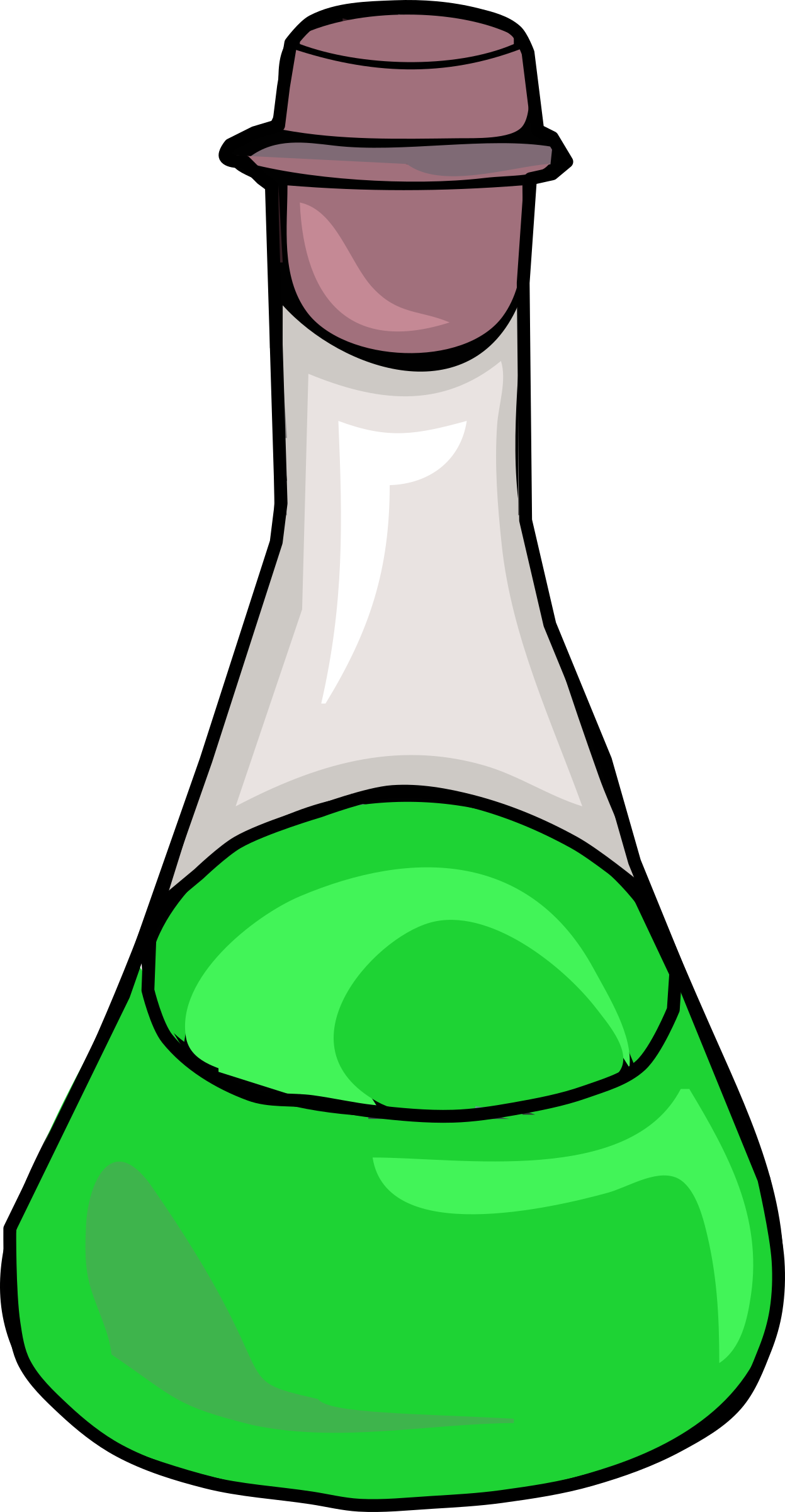Chemistry clip green potion. Science clipart bottle cute