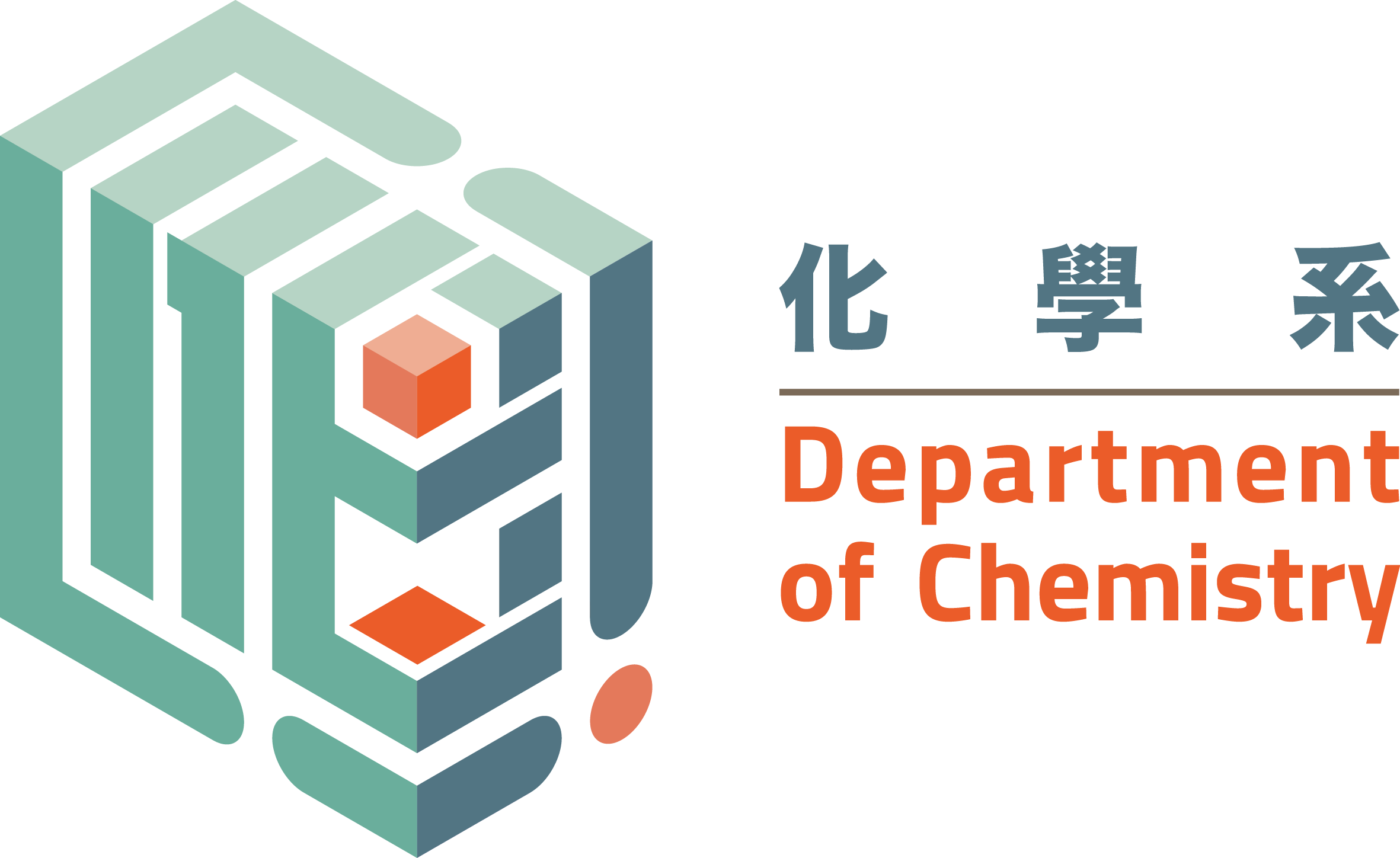 Chemistry clip logo. Department of city university