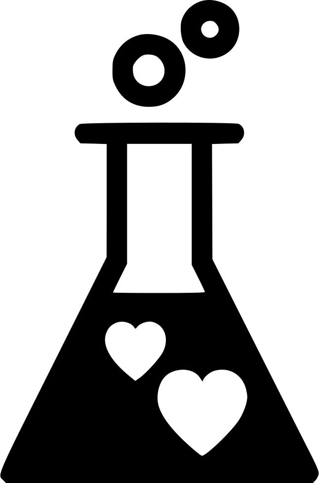 Chemistry clip love. Svg png icon free