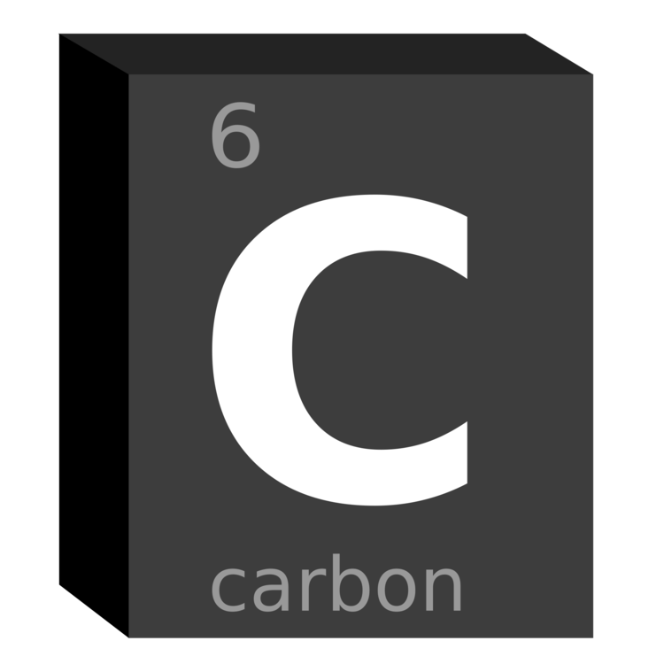 Chemistry clip symbol. Carbon chemical element block