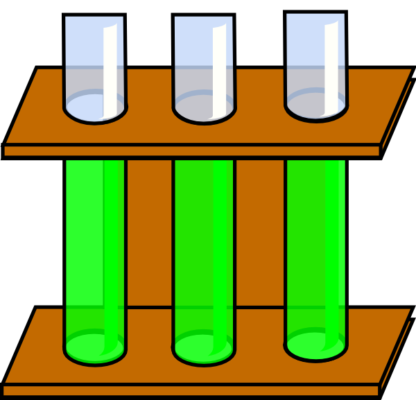 Test drawing clip art. Green tubes at clker