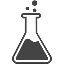 Chemistry clip vial. Flask icon myiconfinder