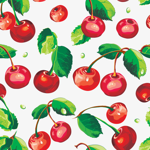 Cherries clipart psd. And leaves red cherry