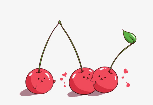 Cherries clipart psd. Hand painted cherry red