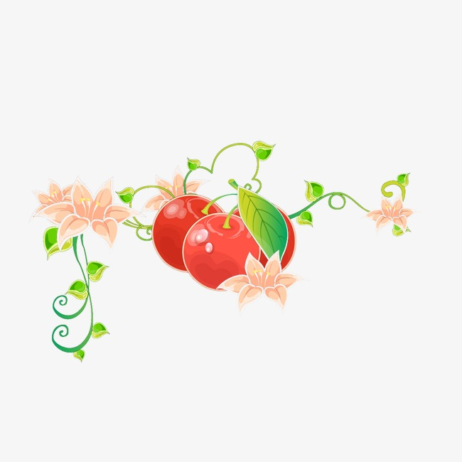 Cherries clipart psd. Cherry border png and