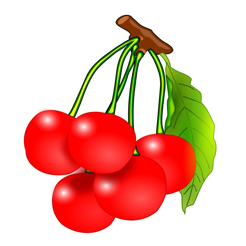 Cherries clipart. Free recipes vegetables fruit