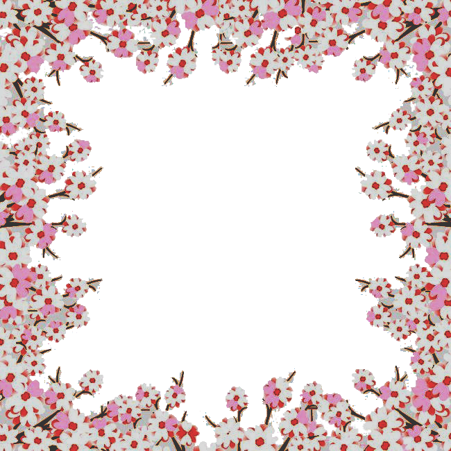 Cherry blossom border png. Pale transprent download