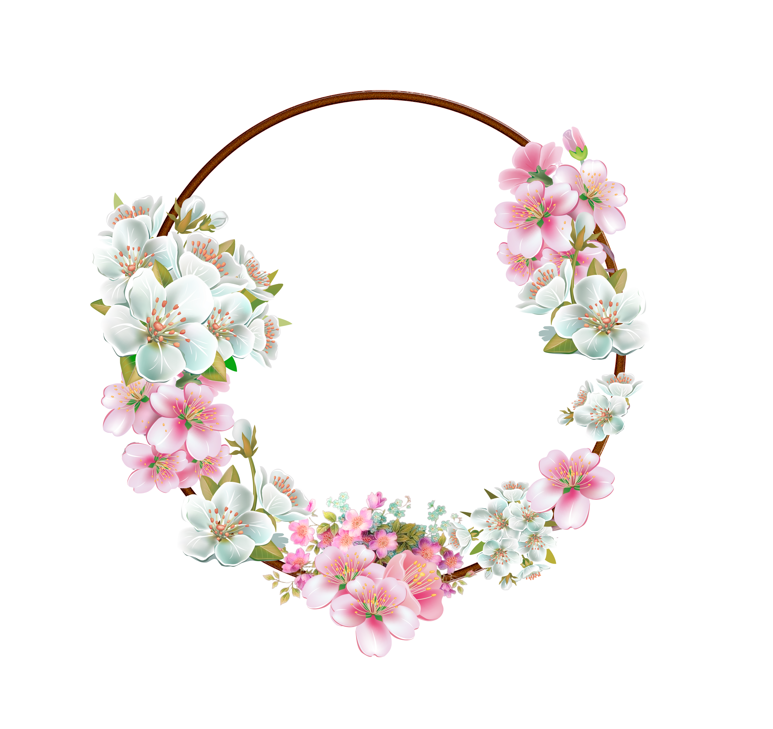 Cherry blossom border png. Flower frame by mysticmorning