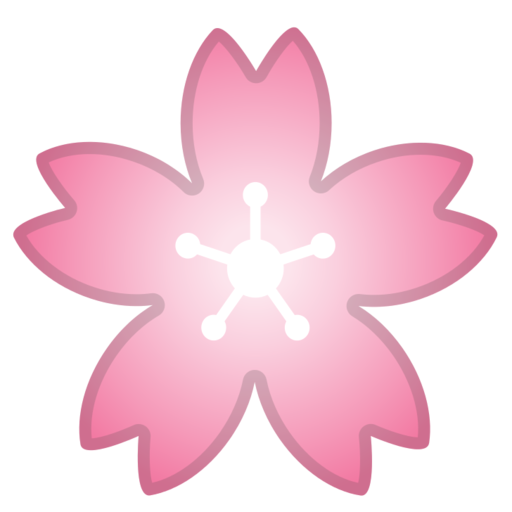 Cherry blossom emoji png. Google android pie