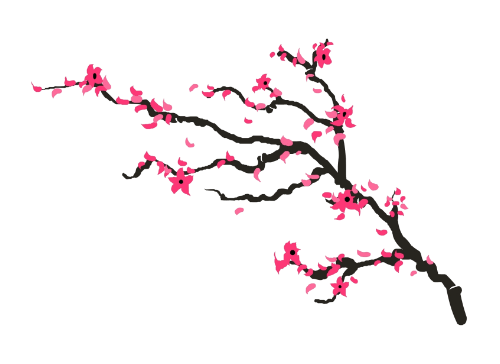 Cherry blossom leaves falling png. Branch tattoo set pinterest