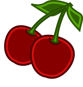 Cherry clipart 2 apple. Cherries clip art at