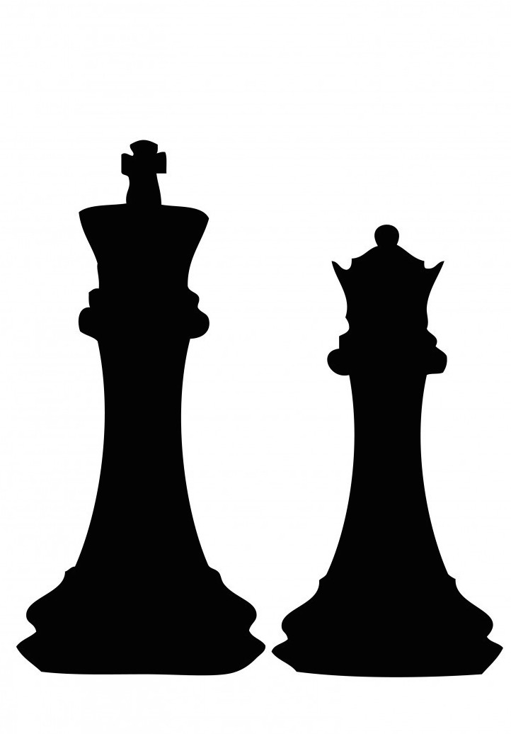 Chess clipart chess coin. Pieces silhouette at getdrawings