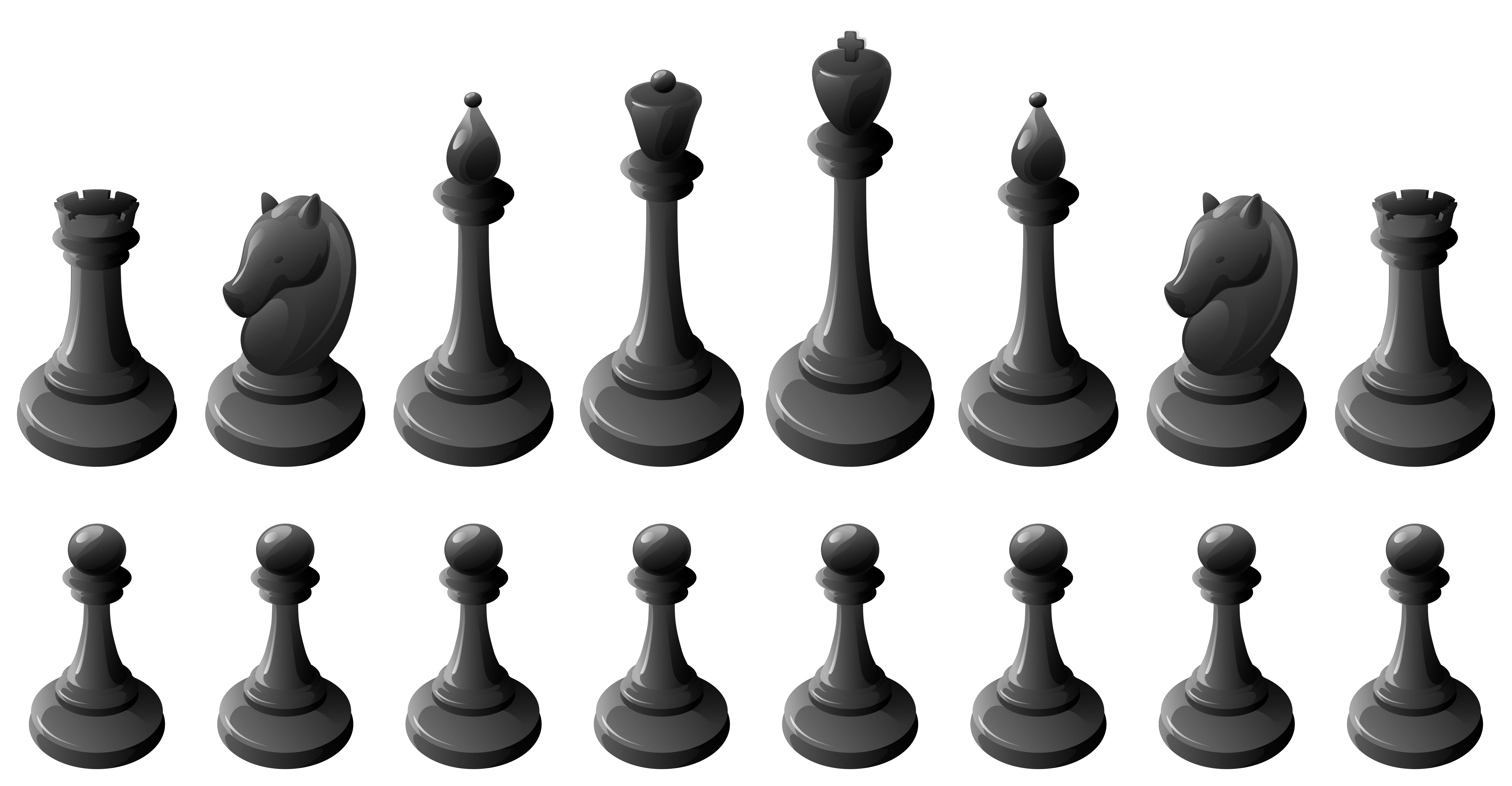 Chess clipart chess coin. Black pieces png best
