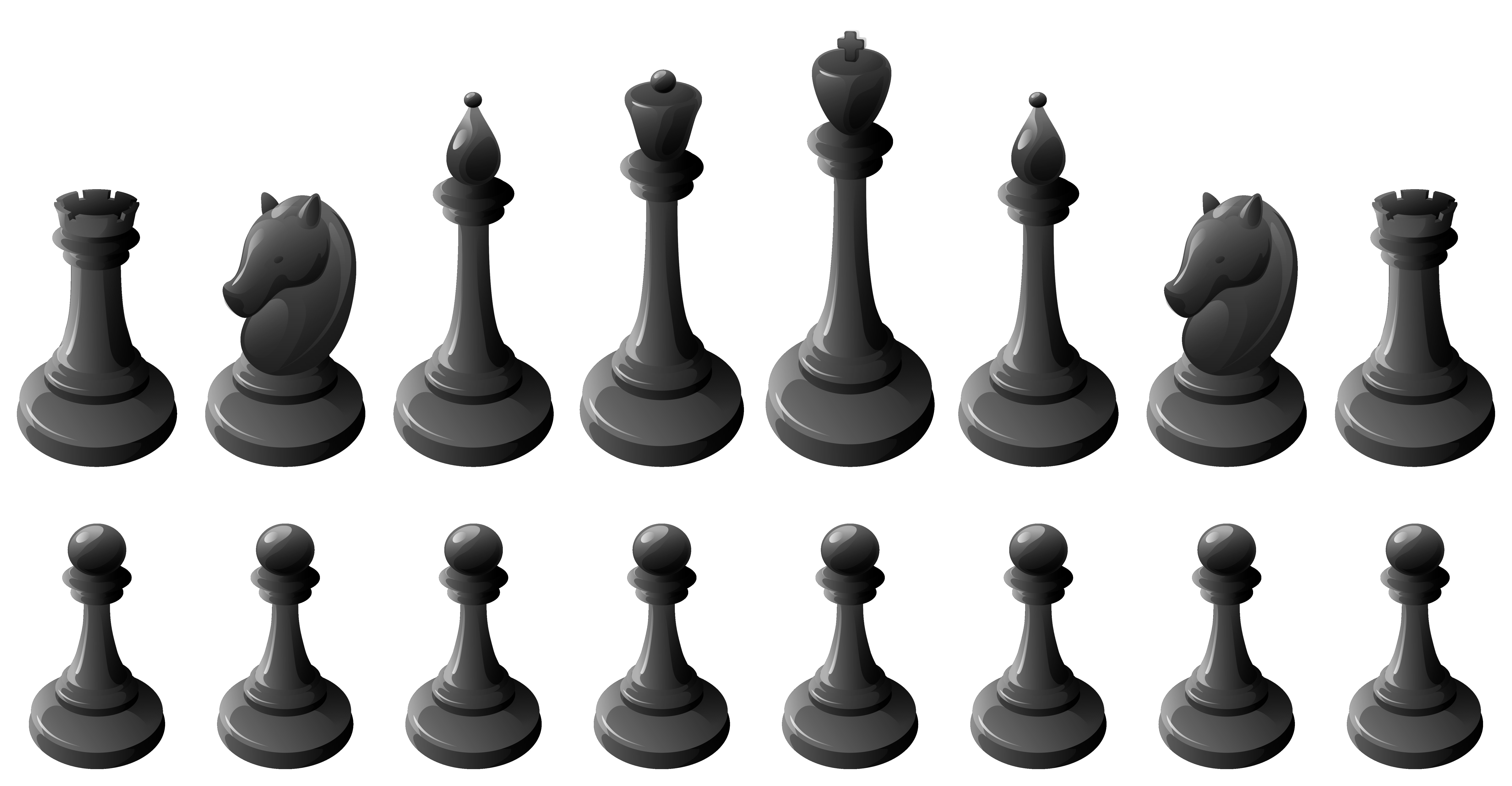Chess clipart chess piece. Black pieces png best