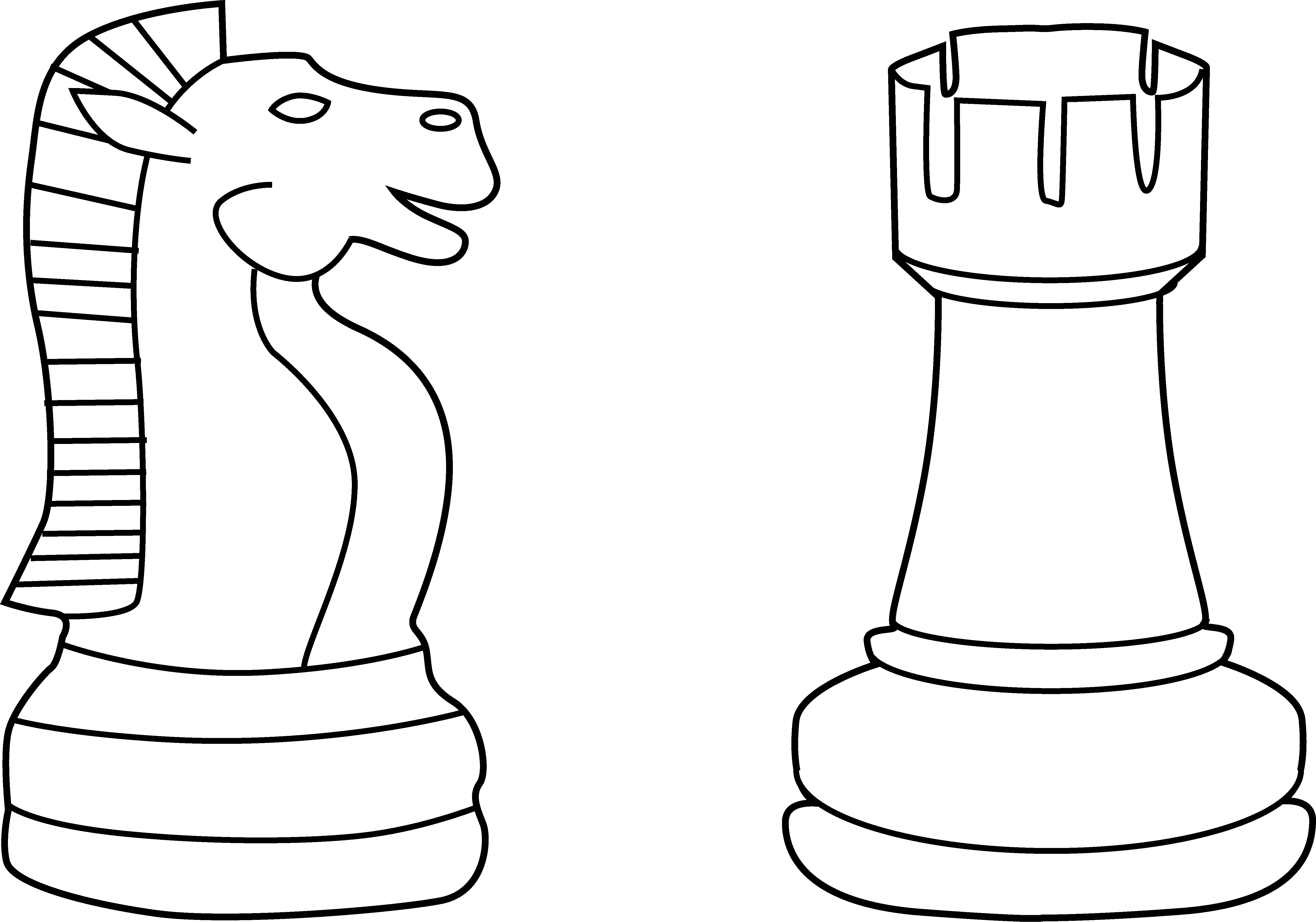 Drawing chess rook. Free pics of pieces