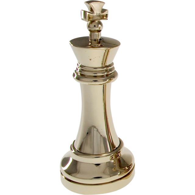 Chess king png. Silver color piece wire