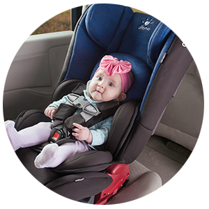 Chest clip car seat. Safety is always our