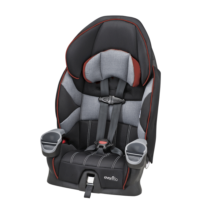 Chest clip car seat. Maestro harnessed booster evenflo