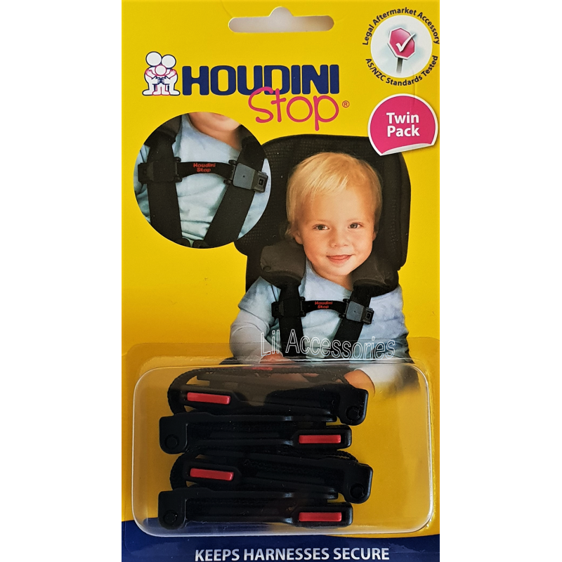 Chest clip houdini stop. Twin pack