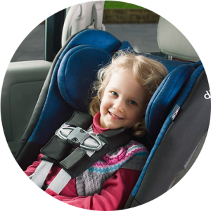 Chest clip proper placement. Harnessing car seat safety